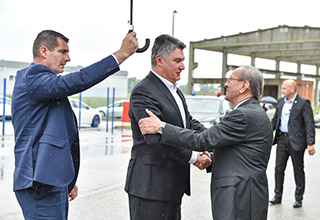 The President of the Republic and Commander in Chief of the Croatian Armed Forces Zoran Milanović visited